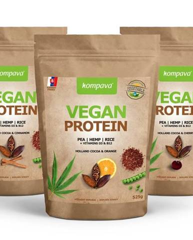 Vegan Protein - Kompava 525 g Holland Cocoa & Cherry