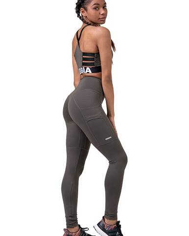 Nebbia High Waist Fit & Smart legíny 505 khaki variant: L